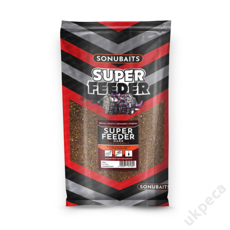 SONU SUPER FEEDER DARK GROUND BAIT (2KG)