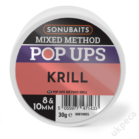SONU MIXED METHOD POP UPS KRILL 8 &10MM