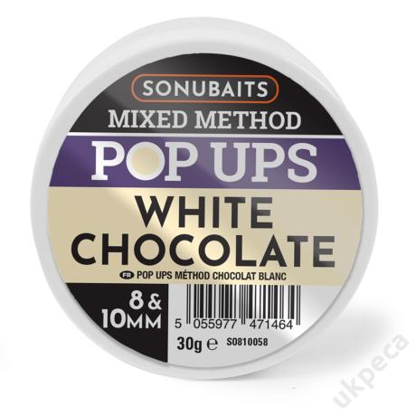 SONU MIXED METHOD POP UPS WHITE CHOCOLATE 8 &10MM