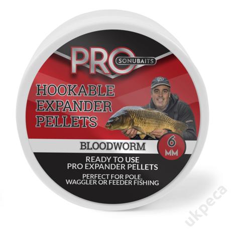 SONU HOOKABLE EXPANDER PELLETS - BLOODWORM 6MM
